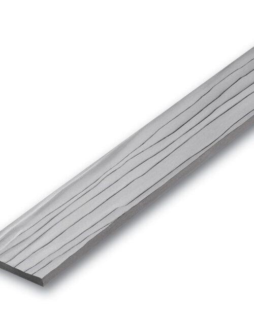 ไม้ระแนง เอสซีจี รุ่นลายไม้ ขนาด 7.5x300x0.8 ซม. สีซีเมนต์