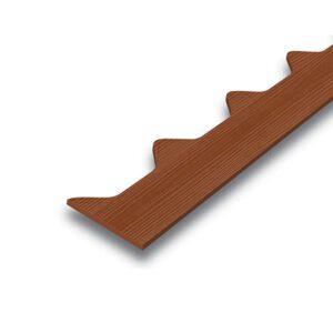 ไม้ปิดกันนก เอสซีจี สำหรับลอนคู่ ขนาด 15x300x0.8 ซม. สีรองพื้น