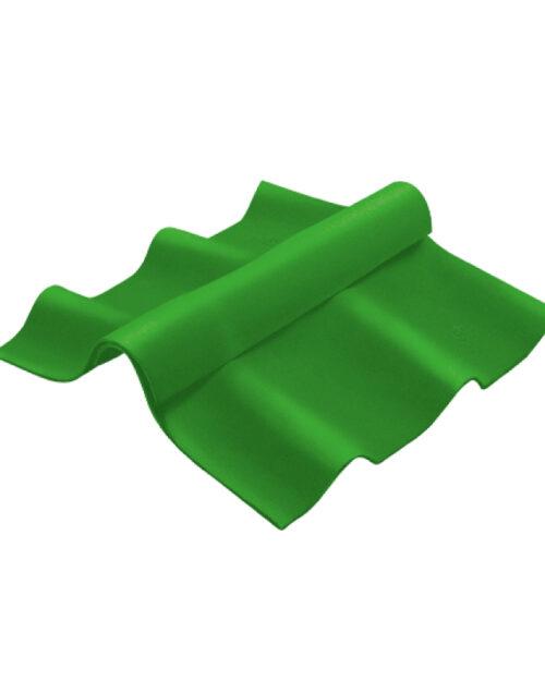 กระเบื้องหลังคาไฟเบอร์ซีเมนต์ เอสซีจี ครอบสันปรับมุม ลอนคู่ ตัวบน สีเขียว