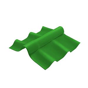 ครอบสันปรับมุม ไฟเบอร์ซีเมนต์ เอสซีจี รุ่นลอนคู่ ตัวล่าง สีเขียว