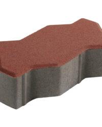 บล็อกปูพื้น เอสซีจี รุ่นคดกริช สีแดง ขนาด 11.25 x22.5 x 6 ซม.