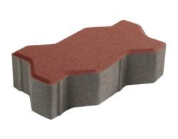บล็อกปูพื้น เอสซีจี รุ่นคดกริช สีแดง ขนาด 11.25 x22.5 x 6 ซม
