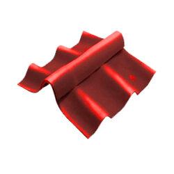 ลอนคู่ ไฮบริด ครอบสันปรับมุม ตัวล่าง 120 ซม. สีแดง