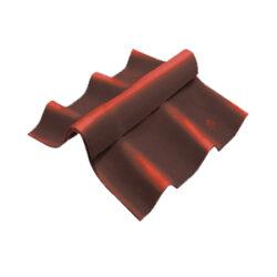 ลอนคู่ ไฮบริด ครอบสันปรับมุม ตัวล่าง 120 ซม. สีเปลือกมังคุด