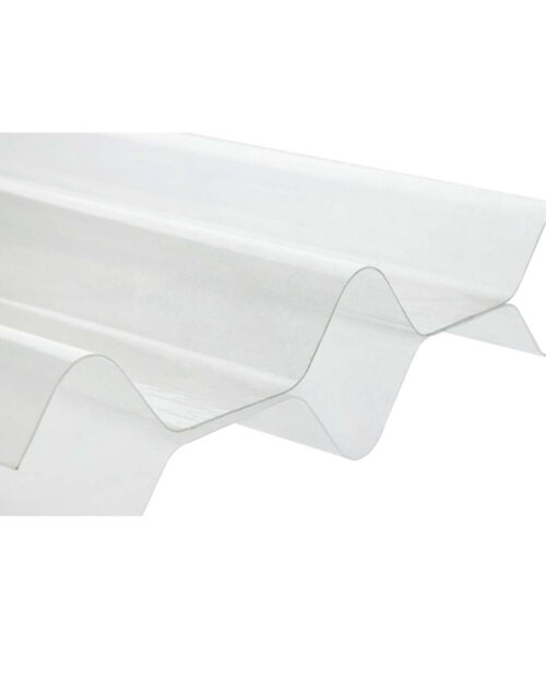 แผ่นโปร่งแสง ลอนคู่ ตราเสือ SCG ขาวใส 0.50×1.50 ม. 0.8 มม