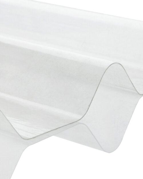 แผ่นโปร่งแสง ลูกฟูกลอนเล็ก ตราเสือ SCG ขาวใส 0.54 x 1.20 ม. 0.8 มม
