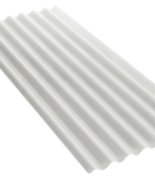 แผ่นโปร่งแสง เอสซีจี ลูกฟูกลอนเล็ก สีขาวมุก 54X120X0.12 ซม.