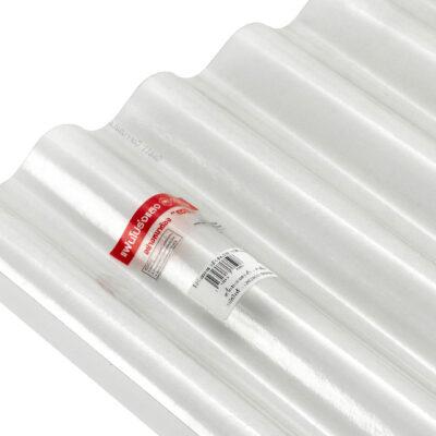 แผ่นโปร่งแสง SCG ลูกฟูกลอนเล็ก ขาวใส 0.54 x 1.20 ม. 0.8 มม