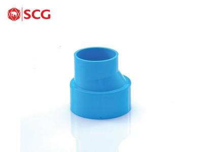 ข้อต่อ PVC ตรงลด-บาง ฟ้า ตราช้าง SCG