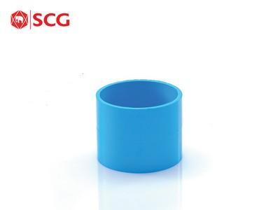 ข้อต่อ PVC ตรง-บาง ฟ้า ตราช้าง SCG