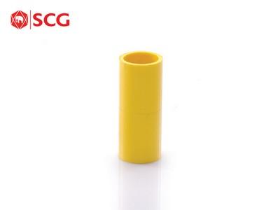 ข้อต่อตรง ร้อยสายไฟ PVC สีเหลือง SCG
