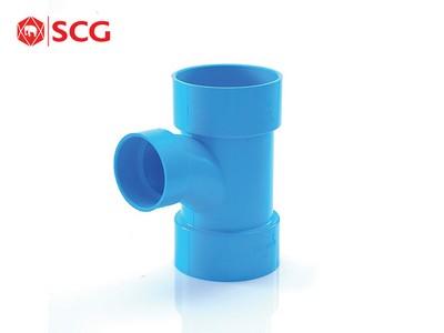ข้อต่อ PVC สามทาง TY ลด SCG ขนาด 4 นิ้ว สีฟ้า