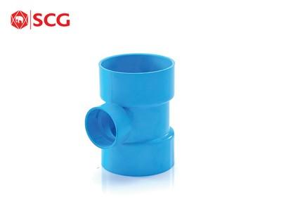 ข้อต่อ PVC สามทางลด-บาง สีฟ้า ตราช้าง SCG