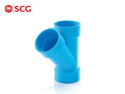 ข้อต่อ PVC สามทาง Y45 ตราช้าง SCG