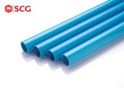 ท่อ PVC SCG-พรีเมี่ยม สีฟ้า ชั้น13.5 ปลายเรียบ