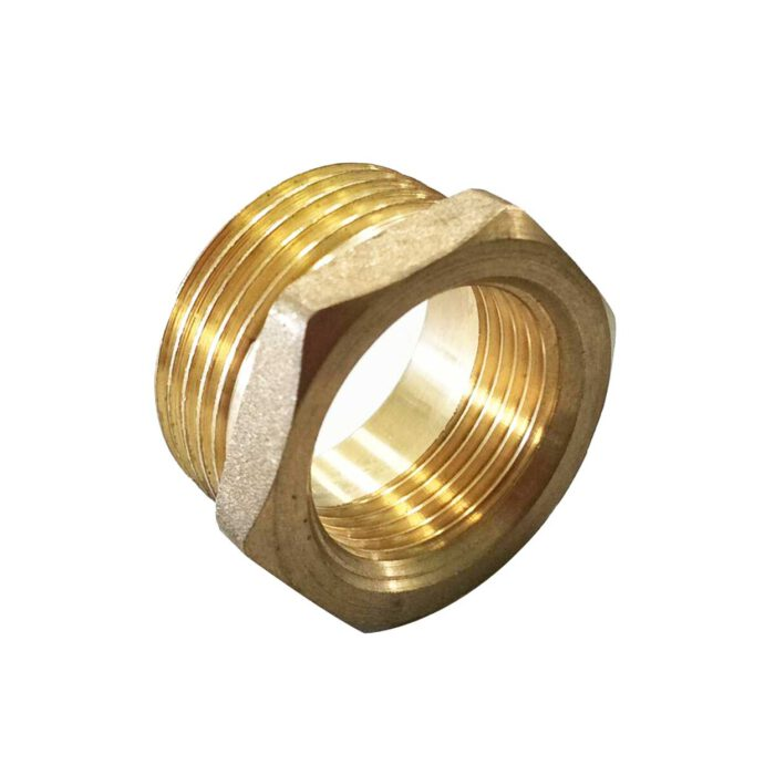 ข้อต่อลดเหลี่ยม ทองเหลือง 3/4x1/2 นิ้ว