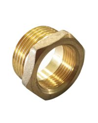 ข้อต่อลดเหลี่ยม ทองเหลือง ขนาด 1×1/2 นิ้่ว