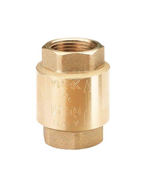 เช็ควาล์ว ทองเหลือง YORK ขนาด 1/2 นิ้ว