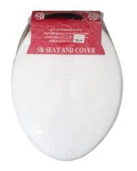 SB ฝารองนั่งชักโครก ฝาชักโครก K-1900 แบบทรงกลม สีขาว