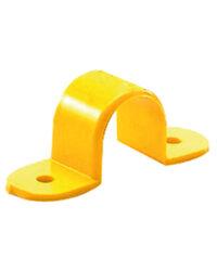 กิ๊ปจับท่อ PVC ขนาด 3/8 นิ้ว (15) สีเหลือง