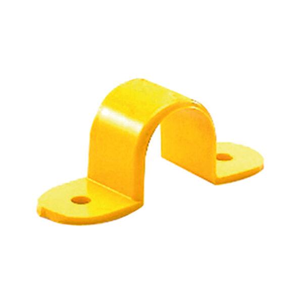 กิ๊ปจับท่อ PVC ขนาด 3 นิ้ว (1 ขีด) สีเหลือง
