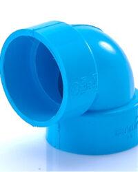 ข้อต่อข้องอ บาง 90 พีวีซี SCG ขนาด 3 นิ้ว สีฟ้า