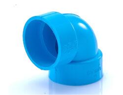 ข้อต่อข้องอ บาง 90 พีวีซี SCG ขนาด 1 1/4 นิ้ว สีฟ้า