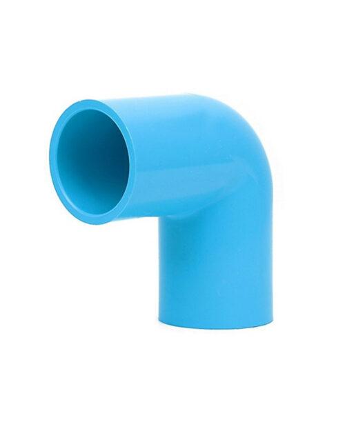 ข้อต่องอ 90 PVC สีฟ้า ขนาด 1/2 นิ้ว