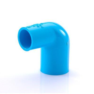 ข้องอ 90 PVC ลด-หนา ขนาด 3/4×1/2 นิ้ว สีฟ้า