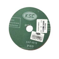 กระดาษทรายกลม KSC Fibler ขนาด 100x16 มม. เบอร์ 60