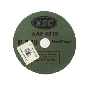 กระดาษทรายกลม KSC Fibler ขนาด 4 นิ้ว เบอร์ 120