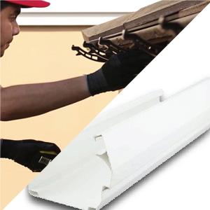 รางน้ำฝนไวนิล SCG รุ่น Smart สีขาว พร้อมติดตั้ง 750 บาท/เมตร