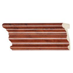 ไม้บัวอเนกประสงค์ YES MOULDING BA003-02 สีไม้มะค่า ยาว 3 เมตร