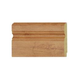 ไม้บัวล่าง YES MOULDING รุ่น BL002-04 สีไม้สักอ่อน ยาว 3 เมตร