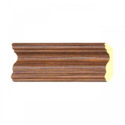 ไม้บัวบน YES MOULDING รุ่น BB004-05 สีลายไม้สัก ยาว 3 เมตร