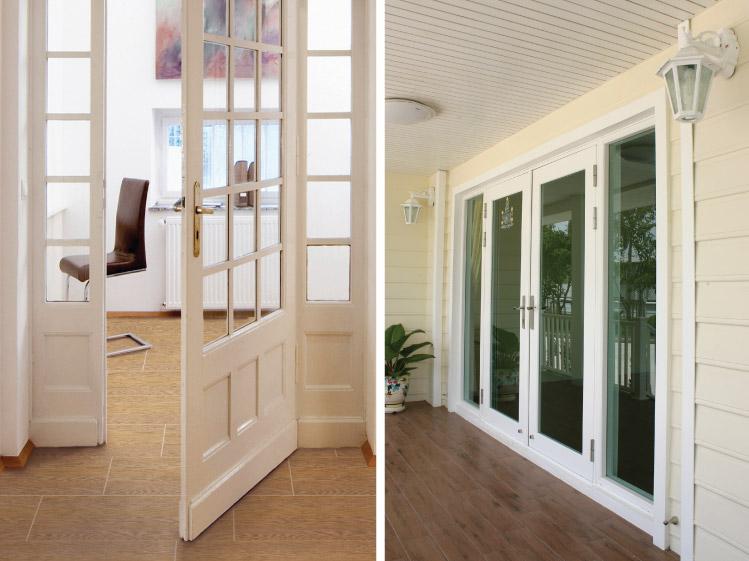 ภาพ: ลักษณะของประตูบานเปิด ที่ต้องมีการเผื่อเนื้อที่สำหรับการเปิดประตูด้วย