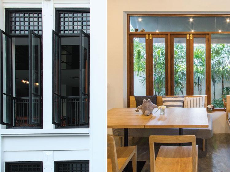 ภาพ: หน้าต่างบานเปิด ขอบคุณภาพซ้าย: THE SIAM HOTEL ขอบคุณภาพขวา: พอใจ โฮม คาเฟ่