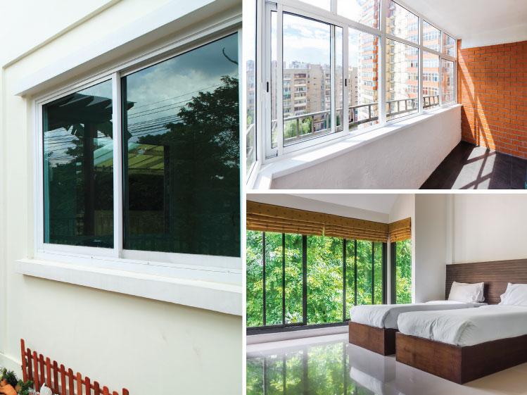 ภาพ: หน้าต่างบานเลื่อน