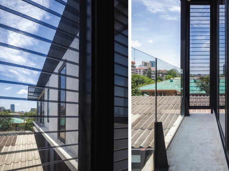 ภาพ: หน้าต่างบานเกล็ดกระจกใส ขอบคุณสถานที่: AREE HOUSE (Floating House)